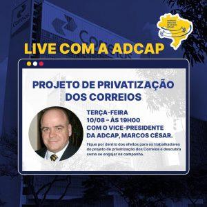 Read more about the article Live com Marcos Cesar – vice-presidente da ADCAP Nacional – HOJE